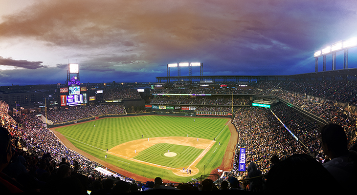 A summer evening at Coors Field.