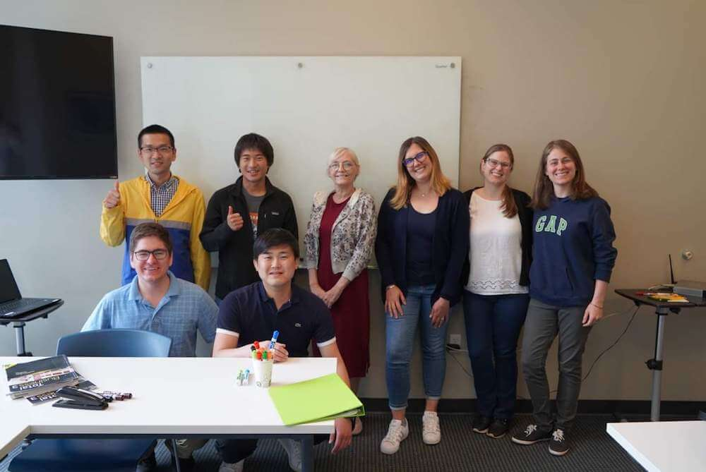 Raul, from Brazil, with his class at BridgeEnglish